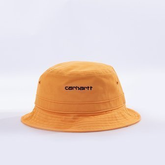 Carhartt WIP Script Bucket Hat I026217 POP ORANGE/BLACK