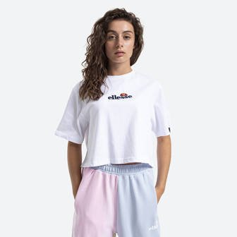 Ellesse Fireball Cropped Tee SGB06838 WHITE