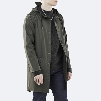 Rains Long Jacket 1202 GREEN