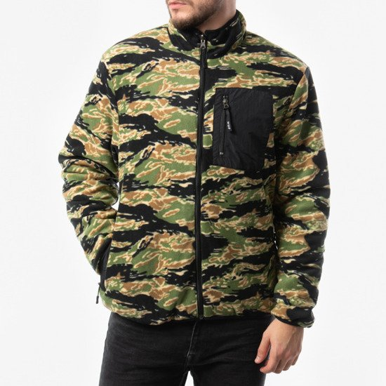 HUF Milton Reversible Polar Fleece Jacket JK00185 TIGER/CAMO