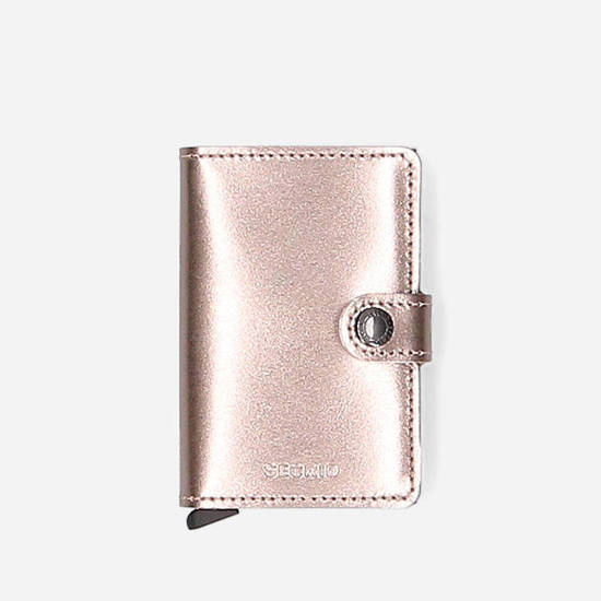 Secrid Miniwallet Metallic MMe-Champagne-Brown