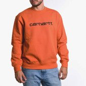 Carhartt WIP Sweatshirt I027092 BRICK ORANGE/BLACK